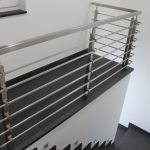 V2A-Quadratrohr - Geländer
