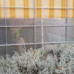 Brüstung aus Aluminiumblech in Rundlochung
